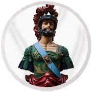Vintage Ships Bust Round Beach Towel