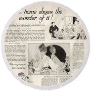 This Home Shows The Wonder Vintage Soap Ad Round Beach Towel