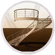 Vintage Stair 48 Escalera Caracol Helicoidal Round Beach Towel