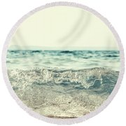 Vintage Waves Round Beach Towel