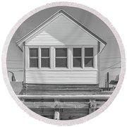 9 - Violet - Flower Cottages Series Round Beach Towel