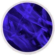Violet Shine I I Round Beach Towel