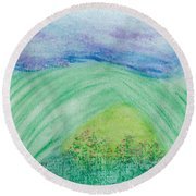Violets In The Summertime Round Beach Towel