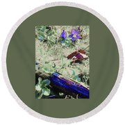 Violets Round Beach Towel