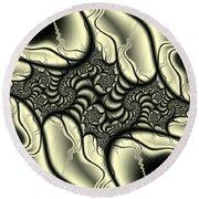 Viral Spiral Flagella Round Beach Towel