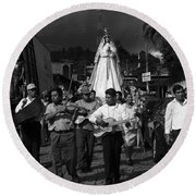 Virgen Concepcion De Ataco Bnw 2 Round Beach Towel
