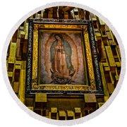 Virgen De Guadalupe 6 Round Beach Towel