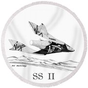 Virgin Galactic Vehicle. Space Ship Two Round Beach Towel