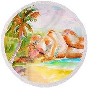 Virgin Cove Round Beach Towel