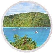 Virgin Island Getaway Round Beach Towel