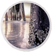 Virginia Beach Pier 2 Round Beach Towel
