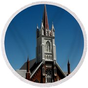 Virginia City Church St Mary Round Beach Towel