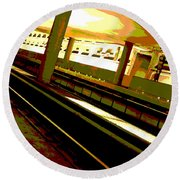 Virginia Square Metro I Round Beach Towel