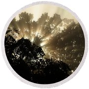 Virginia Sunrise Round Beach Towel