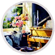 Virginia Waltz Round Beach Towel