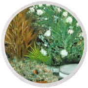 Virginia's Garden Round Beach Towel