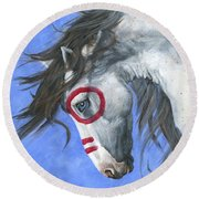 Vision Round Beach Towel by Brandy Woods