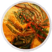 Visions Of Dance - Tile Round Beach Towel