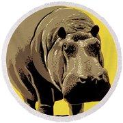Visit The Zoo Philadelphia Round Beach Towel