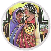 Visitation - Kitchen - Mmvsk Round Beach Towel
