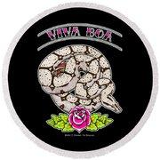 Viva Boa Constrictor Round Beach Towel