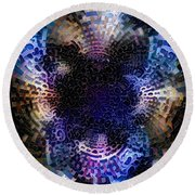 Vivid Abstract Round Beach Towel
