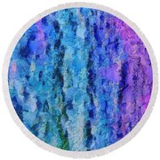 Vivid Calm Round Beach Towel