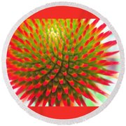 Vivid Round Beach Towel