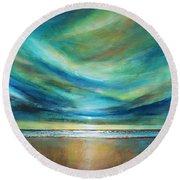 Vivid Sky Round Beach Towel