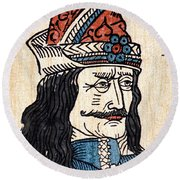 Vlad IIi (1431-1477) Round Beach Towel