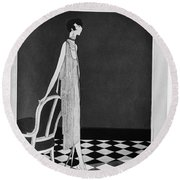 Vogue Magazine, 1925 Round Beach Towel