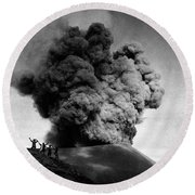 Volcano: Java, 1910 Round Beach Towel