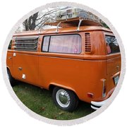 Volkswagen Bus T2 Westfalia Round Beach Towel