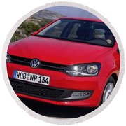 Volkswagen Polo Round Beach Towel
