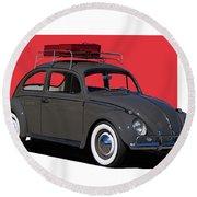 Volkswagen Vw Beetle Round Beach Towel