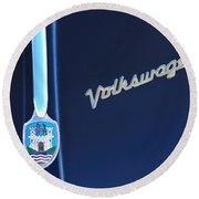 Volkswagen Vw Bug Hood Emblem Round Beach Towel