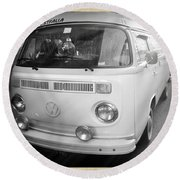 Volkswagen Westfalia Camper Round Beach Towel by Stefano Senise