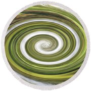 Vortex - River Frays Abstract Round Beach Towel