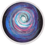 Vortex Of Love 2 Light Is Wave And Particle Round Beach Towel