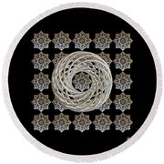 Vortex Stargate Round Beach Towel