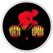 Vuelta A Espana Round Beach Towel