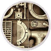Vulcan Steel Steampunk Ironworks Round Beach Towel