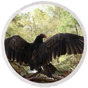 Vulture 429 Round Beach Towel