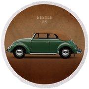 Vw Beetle 1953 Round Beach Towel