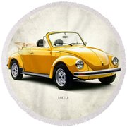 Vw Beetle 1972 Round Beach Towel