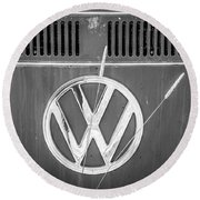 Vw Van Logo Round Beach Towel
