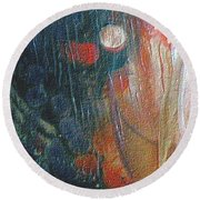 W 003 - Double Moon Round Beach Towel