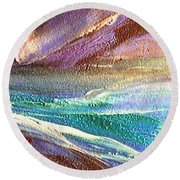 W 034-comet Round Beach Towel