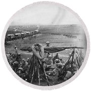W W I: Battle Of Verdun Round Beach Towel
