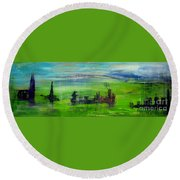 W74 - Utopia Round Beach Towel